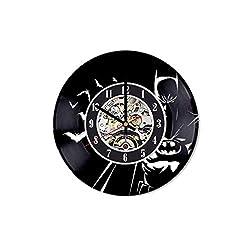 Batman Vinyl Clock, Batman Wall Art, Batman Wall Decor, Batman Watch, Batman Record Wall Clock, Batman lp Clock, Batman Action Figure, Batman Toys, Batman Gifts for Men