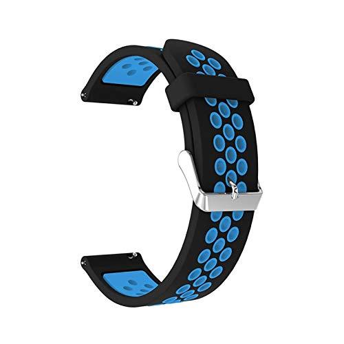 okkpbg Correa de silicona para hombre Samsung Gear S3 Frontier/Classic 22mm Correa de reloj reemplazar pulsera para Samsung Galaxy Watch 46mm pulsera casual y hermosa