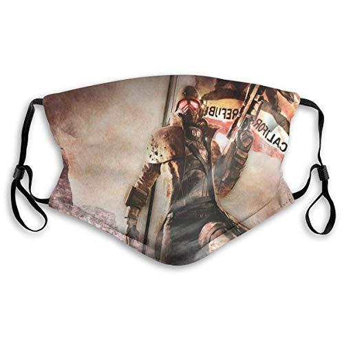 Mundschutz Gesichtsschutz Fall-Out New Vegas 3-Mund-Kopftuch Wiederverwendbare Schal-Gesichtsdekorationen für den Außenbereich