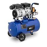 MSW Compressore Senza Olio Compressore Aria MSW-0AC550-24L (24 L, 550 W, 8 bar, 1.400 giri/min, Alluminio)