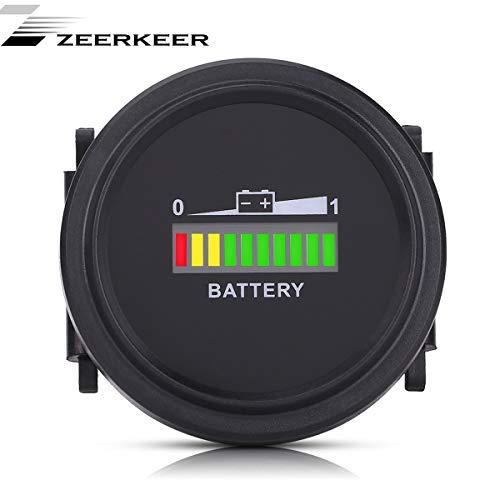 Indicador de batería digital redondo con indicador LED de batería de 12...