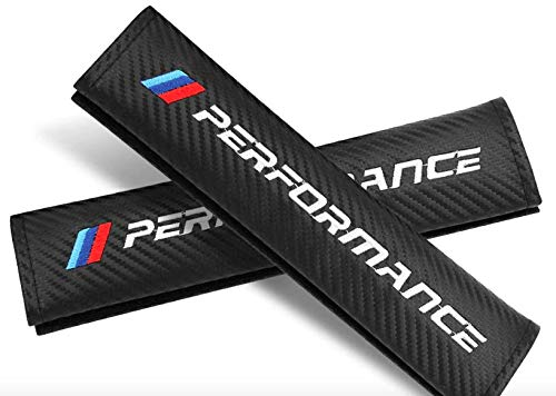 2 Stück Autositzgurtpolster für M Power Performance, Carbon, Auto-Sicherheitsgurt, Schulterpolster für zusätzlichen Komfort auf der Straße, Auto-Styling