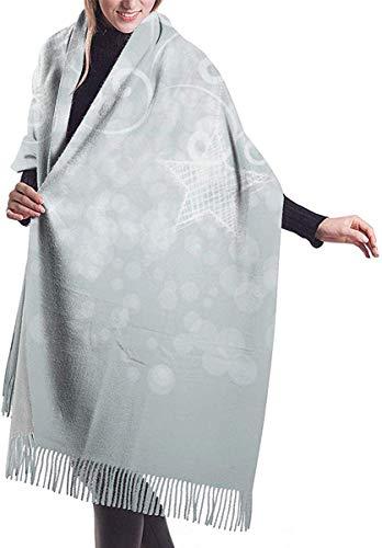 Bufanda de invierno con tacto de cachemira, bufanda de pashmina, envoltorios suaves y cálidos para mujeres, fondos de Navidad, imagen vectorial