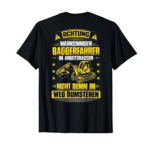 Herren Baggerführer Im Arbeitsrausch Bagger Baggerfahrer T-Shirt