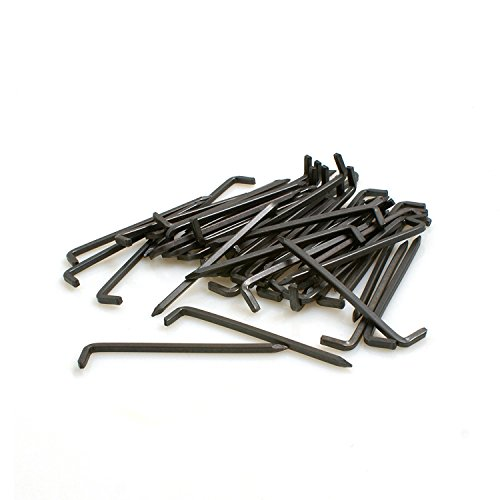 Design61 50x Konsolhaken Stahlhaken Vierkantdraht Ø 2 x L 20 mm aus Eisen