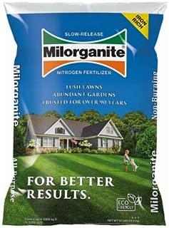 Milorganite 64032 Eco-Friendly Slow-Release Nitrogen Lawn Fertilizer, 32-Lbs. - Quantity 63