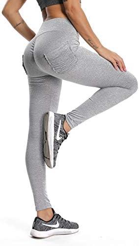 NICEWIN Pantaloni Sportivi Donna Allenamento Leggins Pantaloni Tuta Donna Opaco Vita Alta Yoga Palestra Leggings Donna Push Up Elastico con Tasche Pantaloni da Corsa