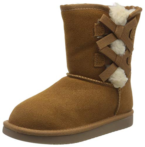Koolaburra by UGG Girl's Victoria Short Fashion Boot, Chestnut, 12 Youth US Little Kid