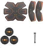 WEARRR Estimulador Muscular Abdominal eléctrico EMS ABS Hip TRANSER Home Home Gym con USB Recargable Fitness Masajeador Cuerpo Adelgazamiento masajeador (Color : One Set)