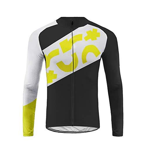 Uglyfrog Radtrikot Herren Top Schnell Trocken Langarm-Radfahren Jersey Winter Fleece Warm für Mountain Biking und Outdoor