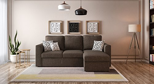 Urban Ladder Kowloon Sectional Sofa Cum Bed with Storage (Colour : Sand Brown)