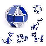 Sunnywill Snake Magic Variety Jeu Populaire pour Enfants Twist, Puzzle Cadeau Transformable (Dimensions: 50 * 3cm, A)