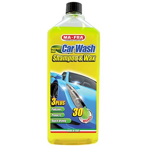 Mafra, Carwash, Shampoo e Cera per Auto, Lava, Deterge e Lucida la Carrozzeria, con Effetto Hydro-Speed, Formato 1l