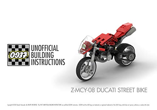 0937 UNOFFICIAL BUILDING INSTRUCTIONS, Z-MCY-08 DUCATI STREET BIKE (English Edition)