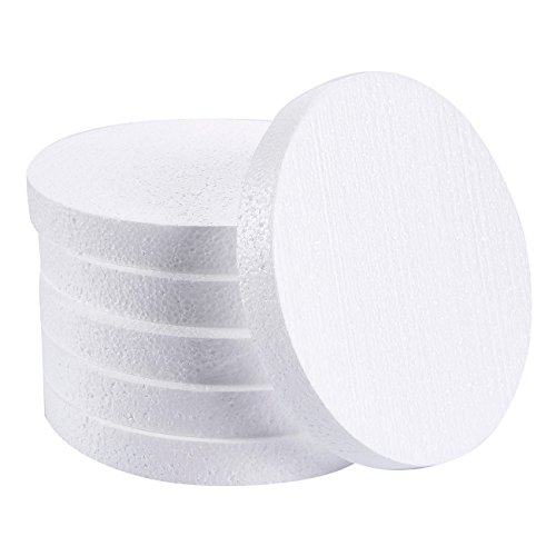 Foam Circles, Arts and Crafts Supplies (8 x 8 x 1 In, 6-Pack)