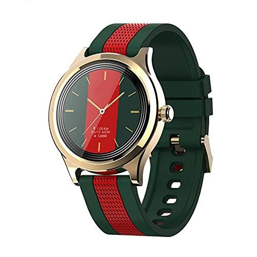 Smart Watch Reloj, Smart Watch Fitness Trackers con Monitor de Ritmo Cardíaco Step Calorie Counter Sleep Monitor, Reloj Impermeable Smart Watch Mensaje de Llamada Entrante Recordatorio