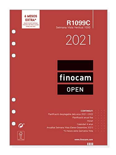 Finocam - Recambio Anual 2021 Semana vista vertical Open R1099C Catalán