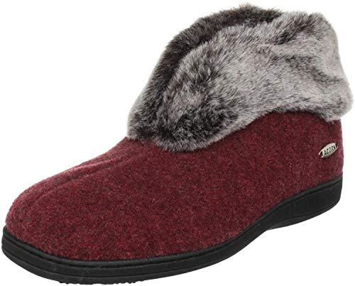 Acorn Women's Faux Chinchilla Bootie II, Crackleberry, Large