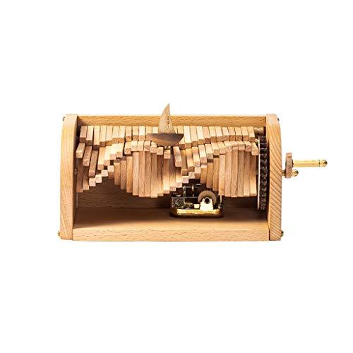 Teri Handkurbel Spieluhr, Holzhandmade DIY Musikbox, Kreative Geburtstags-Geschenke for Jungen, Mädchen und...