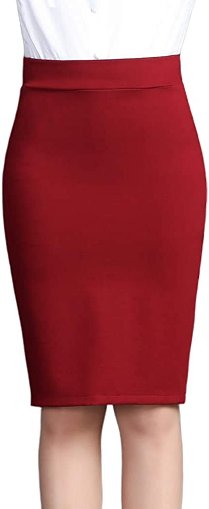 Nanxson Women' Business Professional Hips-Wrapped Slim Skirts Wear to Work Pencil Skirt CFW2007