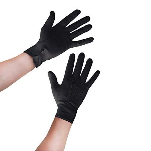 Oblique Unique® 1 Paar Herren Handschuhe in Schwarz aus Baumwolle
