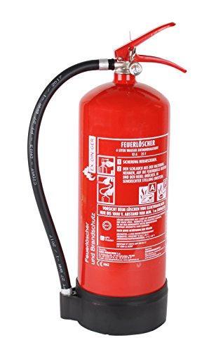 AF 6l Wassernebel-Feuerlöscher auch Fettbrände 4 Löscheinheiten (Dauerdrucklöscher GWM-6X aktueller Instandhaltungsnachweis)
