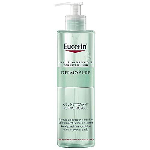 Eucerin Dermopure Reinigungsgel (1x 400ml), Waschgel zur Reinigung bei unreiner Haut, Gesichtsreinigung mit seifenfreier Formel öffnet verstopfte Poren