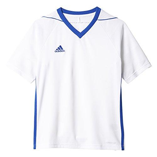 adidas Youth Tiro 17 Soccer Jersey 2XS White-Bold Blue