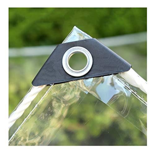 LH-RUG Toldo Impermeable,PVC Proteccion Solar Espesar Pabellón, Encendiendo Parabrisas Protección contra Frío Mantente Caliente,Personalización Soporte (Color : Clear, Size : 3x8m)