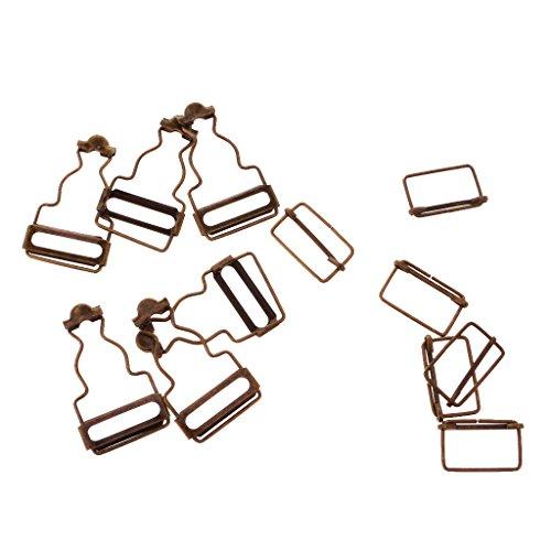 Sharplace Metall Latzhosen Schnalle Trägerschnallen für Jeans Träger - Bronze, 3,2 cm