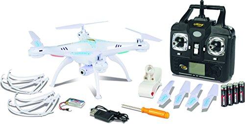 Carson 500507101 – Aviation, X4 Quadcopter 360 FPV WiFi 100% RTF