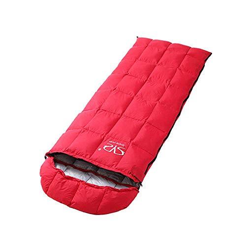 Calentar Camping Bolsa de dormir Bolsa de momia Bolsa de dormir Caliente 1500g Abajo Relleno, Compresión Llevar Bolsa incluida, Ideal para acampar, Festivales Impermeable (Color: Rojo) ( Color : Red )