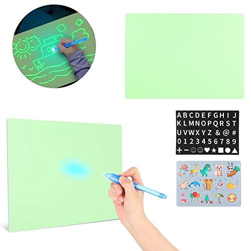 Tablero Fluorescente, Tablero de Dibujo Divertido Que Brilla en la Oscuridad con luz para niños Tablero de Pintura para desarrollar Habilidades de Dibujo o Escritura, Juguete Educativo