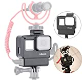 ULANZI V2 Housing Case Vlogging Frame with Microphone Cold Shoe Mount Compatible for GoPro Hero 7 6 5 Mic Audio Adapter Action Camera Accessories