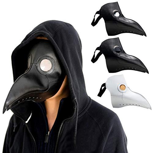 AAlamor Steampunk pest dokter masker vogel snavel halloween prop cosplay Punk gotische maskers Zwart