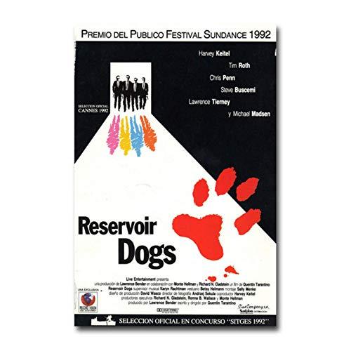 Mural Reservoir Dogs, Póster De Película Caliente, Arte De Pared, Lienzo, Impresión De Pintura Para Decoración De Habitación, Decoración De Dormitorio Para Niños, 16X24 Pulgadas Sin Marco