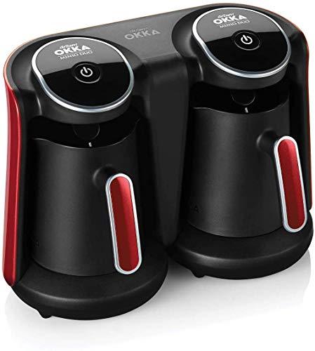 Arzum OKKA Minio Duo Kaffeemaschine, OK006-N, 1-8 Tassen Fassungsvermögen, waschbare Kaffeekanne, Akustisches Alarmsystem, kompakte Bauweise, 880W Leistung, Kaffeemesslöffel