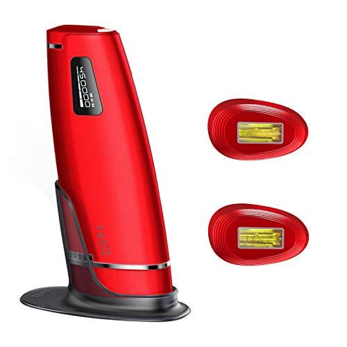 FASÏZ IPL Geräte Haarentfernung Professionelle Dauerhafte Haarentfernung Licht-Haarentferner für Frauen/Männer 600.000 Lichtimpulse (Rot)