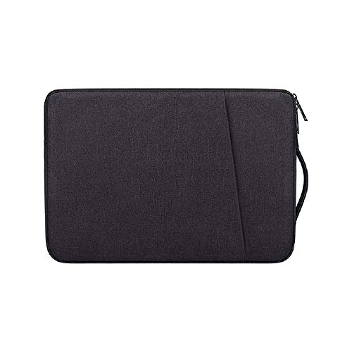 Laptop Sleeve for 13.3 Inch MacBook Air and MacBook Pro, Compatible with 13-13.3 Inch Notebook Tablet iPad Tab, Waterproof Shock Resistant Computer Bag Case with Handle and Accessory Pocket, Black