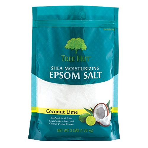 Tree Hut Shea Moisturizing Epsom Salt Coconut Lime, 3Ibs, Ultra Hydrating Epsom for Nourishing Essential Body Care