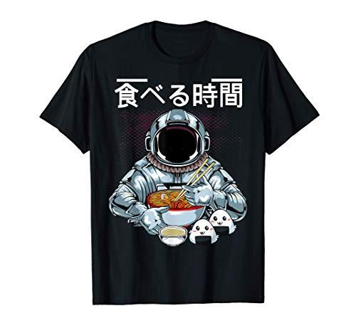 L'astronauta Si Gode La Zuppa Di Ramen Giapponese E Il Sushi Maglietta