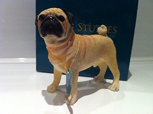 Fawn Pug Ornament Dog Figure Figurine Brand New Gift Boxed - Leonardo Collection