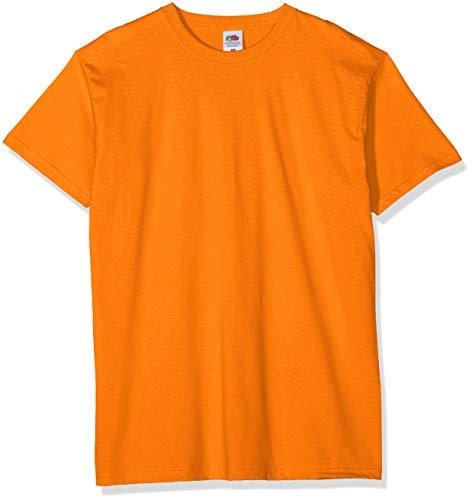 Fruit of the Loom Valueweight 5 Pack Camiseta, Naranja (Orange 44), Large (Pack de 5) para Hombre