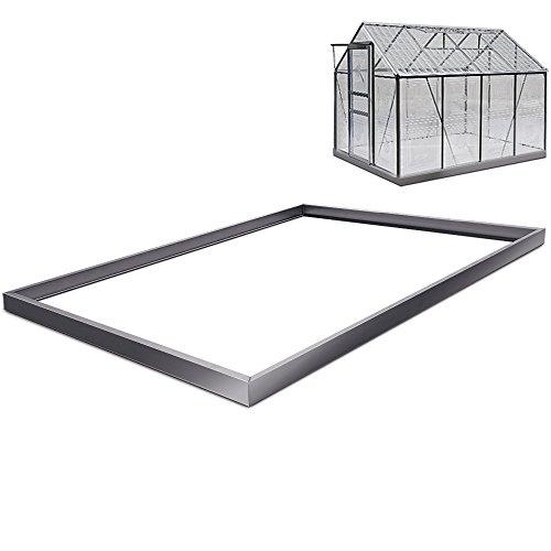 Deuba Base para invernadero   sólida y estable   Acero galvanizado   250 x 190 cm