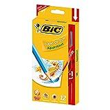 Lápis de Cor Aquarelável BIC, 12 cores, + 1 Pincel, 742837, 1 unidade