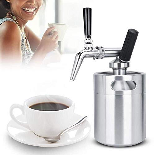 41v8vBCYklL - Nfudishpu Moka Kaffeekanne 2L Edelstahl Stickstofffass Kaffeefass Home Brew Kaffeesystem Kit Zubehör Milchkännchen für Kaffeewerkzeuge