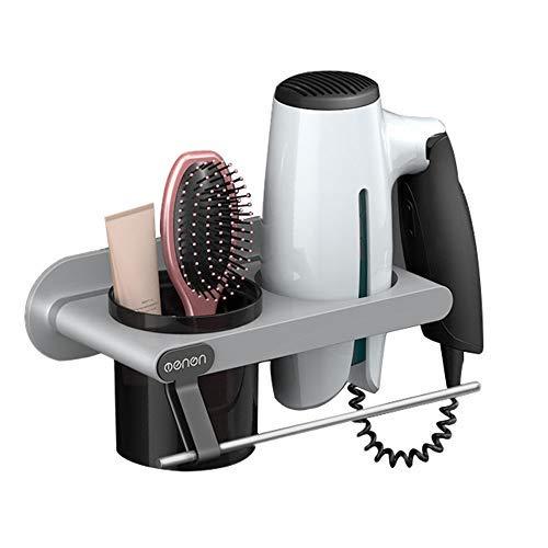 FGHGFCFFGH Hair Dryer Rack Storage Organizer Comb Holder Bathroom Wall Mounted Stand