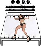 Bed Rëštråints Kit Set for šë&x for Couples Adult Women with Adjustable Stråps Fluffy Håndcǔffs Arms and Legs Rëštråints šë&x Play, Bedroom System, Adjustable