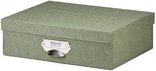 Rössler S.O.H.O. 1343452670 Boîte de rangement en carton avec poignée et étiquette inscriptible Special Line Sage