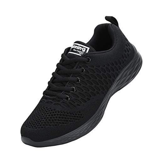 CXWRZB Mujer Hombre Gimnasia Ligero Sneakers Zapatillas de Deportivos de Running para Negro 36 EU